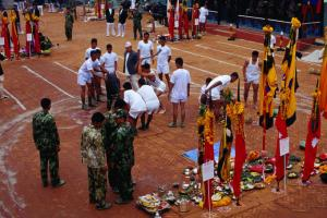 Buffalo sacrifice during Dasain, Kot Square. Richard I'Anson Lonely Planet Photographer © Copyright Lonely Planet Images 2011