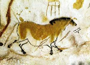 Above the horse, Bear footprint, Lascaux, France