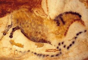 Horse in water, Lascaux, France